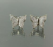 Natural Diamond 0.25 CT Butterfly Earring in 10K Yellow Gold
