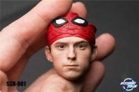 "SOOSOOTOYS SSH-001 1/6 Spider-man Tom Holland Head Sculpt Fit 12"" Figure Body"
