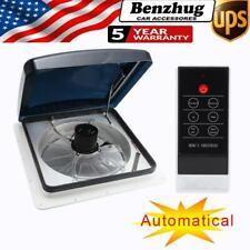 "12V 14"" RV Fan Roof Vent 2-way Ventilation 3-Speed Automatic Cover Rain Sensor"