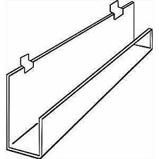 "Slatwall Rack with Front Lip, 35 3/4"" (W), 49964"