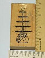 Oh Christmas Tree JRL I116 Wood & Foam Rubber Stamp