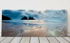 holywell bay stormy night sky panoramic canvas print Cornwall framed picture