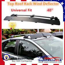 "Universally Mount Fit Rooftop 40"" CrossBar Wind Fairing Air Deflector Kit Super"