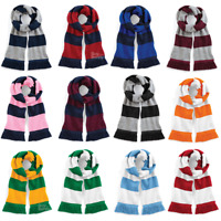 BEECHFIELD VARSITY STADIUM SCARF DOUBLE LAYER KNIT SPORT STRIPES TEAM FOOTBALL
