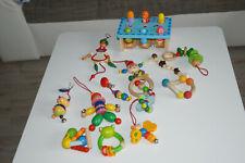 Baby Spielzeug 14 Teile Holzspielzeug HABA, LORENZ Greiflinge, Wagenkette usw.