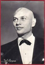 YUL BRYNNER 05a ATTORE ACTOR ACTEUR CINEMA MOVIE STAR Cartolina FOTOGRAFICA
