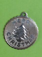 STERLING SILVER VINTAGE BRACELET CHARM M99  MERRY CHRISTMAS