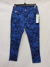 Guess Girl's Mock Jacquard Jeans, Blue, 14