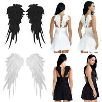 Embroidered Angel Wings Iron-on Badges Cosplay Christmas Fancy Dress Costume S/L