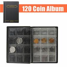 120 Cases Album De Pièce Classeur Monnaie Etui Pochette Collection Stockage NEUF