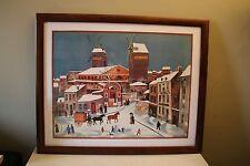 """Michel Delacroix """"Moulin de la Galette"""" Lithograph Print Framed"""