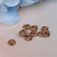 10Pcs/bag 1:12 Dollhouse Miniature Cookies Pretend Play Dollhouse Accessories SE
