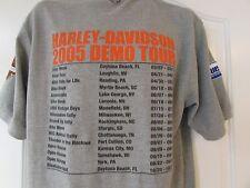VTG 90`s HARLEY BUELL Demo Program LARGE POLO Shirt 2 Sided 3D Mediumweight