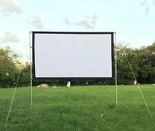 """New 100"""" Canvas HD Projector Screen16:9 Portable Screen with Stand"""