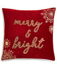"Lacourte 20"" Square Decorative Pillow Merry and Bright T96016"