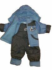 Schneeanzug Wasserabweisend Babyschneeanzug SkianzugKapuze Jungen 2 teilig -NEU-