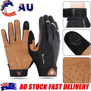 1 Pair Adjustable Full Finger Gloves MTB Bike Cycling Breathable Nonslip Gloves