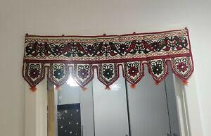 Hippie Indian embroidered Parrot Toran door valances wall hanging Home Decor