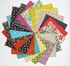"42 - 5"" Quilt Squares CHICOPEE Denyse Schmidt Retro Vintage Floral Free Spirit"