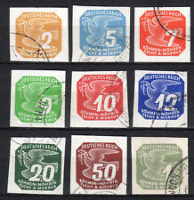 Germany / Bohmen und Mahren - 1943 Newspaper stamps Mi. 117-25 VFU