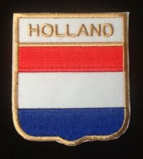 HOLLAND NETHERLANDS DUTCH NATIONAL FLAG BADGE IRON SEW ON PATCH CREST SHIELD