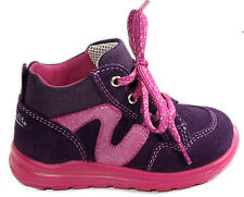 SUPERFIT Schuhe Schnürer echt Leder Lauflernschuhe Pink Blau Glitzer NEU