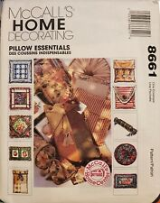 McCall's Home Decorating pattern 8661 Pillow Essentials, different styles uncut