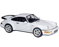 Welly 1:18 PORSCHE 964 Turbo Racing Car White Diecast Model NEW IN BOX