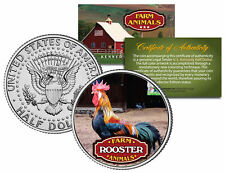 ROOSTER * Collectible Farm Animals * JFK Kennedy Half Dollar U.S. Colorized Coin