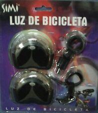 LUCES PARA LA  BICICLETA -JUEGO DE 2 CON SUS SOPORTES