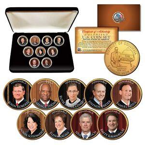 JUSTICES SUPREME COURT Washington DC Quarters 24K Gold Clad 9-Coin Set w/Box RBG