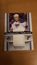 New listing 2013-14 SP Game Used Authentic Fabrics jersey AF-DB David Backes