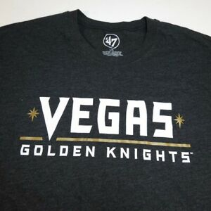 NEW '47 FORTY SEVEN BRAND LAS VEGAS GOLDEN KNIGHTS VGK NHL HOCKEY T SHIRT Sz L
