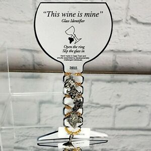 THIS WINE IS MINE Glass Identifier Charms Mermaid Leopard Elephant MSRP$70