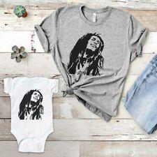 Bob Marley music pop icon Baby Infant Toddler Youth Men Women Shirt