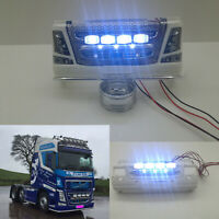 Front Bumper LED Light Bar Set For 1/14 Tamiya Scania 620 Volvo Actros RC Truck