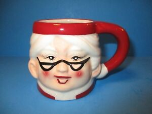 NEW  Pottery Barn Mrs. Santa Claus Christmas Mug Cup Ceramic 8oz Figural