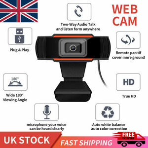 1080P HD Webcam With Microphone USB Web Camera For PC Laptop Desktop Computer UK