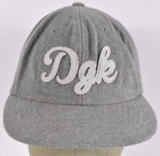 Gray DGK Dirty Ghetto Kids Embroidered Baseball hat cap adjustable Leather strap