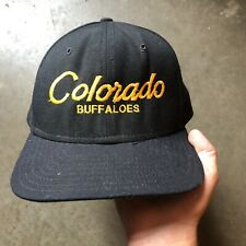 Men's Vintage 90s New Era Colorado Buffaloes Single Line Script Snapback Hat Cap
