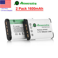 2Pcs NP-BX1 NPBX1 Battery For Sony DSC-H300 H400 DSC-HX300 HX50V DSC-WX300 WX350