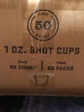 2500 COUNT HEAVYWEIGHT 1 oz Shot Disposable Clear Plastic Glass Bomber Shooter