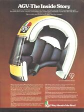 1978 Magazine A4 Advertisement - AGV X-3000 'Ago' Vintage Crash Helmet Agostini