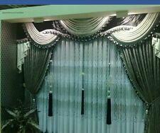 Italian heavy curtains desinge  drapery custom made TASSEL valances fabrics swag