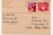 Suiza entero postal con franqueo complementario circulado año 1981 (DL-588)