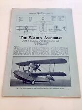 VICKERS ARMSTRONG WALRUS AMPHIBIAN FLYING BOAT CATAPULT TRAINING BROCHURE 1942