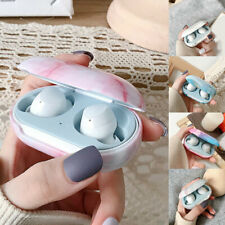 For Samsung Galaxy Buds+ Buds Plus Shockproof Flowe Marble Earphone Case Cover