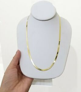 """3mm Herringbone Chain Necklace 10k Yellow Gold 18""""-24"""" Inch Mens Women REAL GOLD"""