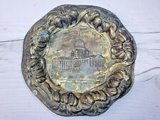 Antique Madison Wisconsin State Capitol Souvenir Ashtray, Vintage Wisconsin