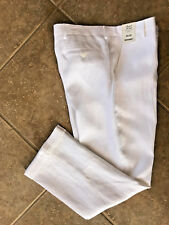 Murano 100% Linen Dress Pants Mens 38 x 32 White w/ Cuffs Baird McNutt NWT $79